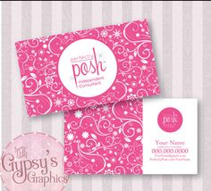 Polka Dots - Perfectly Posh Business Card | posh business cards ...