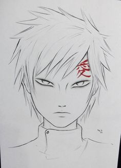 Gaara by DiegoYojiJoji on DeviantArt Naruto Gaara, Anime Naruto, Naruko Uzumaki, Itachi, Boruto, Anime Drawings Sketches, Naruto Drawings, Kpop Drawings, Naruto Sketch