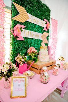 Boho Cake Table from a Pink Coachella Birthday Party on Kara's Party Ideas   KarasPartyIdeas.com (15)