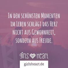 Macht euch schöne Momente. Mehr Sprüche auf: www.girlsheart.de #liebe #momente #erinnerungen #herz