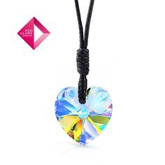 Aliexpress.com : Buy Neoglory Jewelry Christmas gift fashion sweet heart necklace with swarovski element crystal pendant rope chain new arrival from Reliable necklace suppliers on NEOGLORY JEWELRY