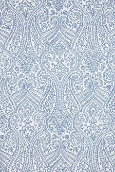 Wallpaper - Paisley Tracings Wallpaper from Anthropologie decorating your wall space with Light Blue tracings of Paisley designs for a fresh vibe. Paisley Wallpaper, Paisley Art, Unique Wallpaper, Home Wallpaper, Bedroom Wallpaper, Wallpaper Ideas, Powder Room Wallpaper, Painting Wallpaper, Blue Wallpapers