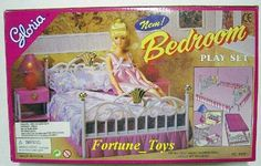 Gloria Furniture Doll Size New Bedroom Lighted Bedlamp Set for Barbie Playset | eBay