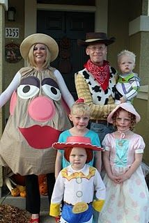 Toy Story Halloween Costumes...@Alicia Davidson. Ok so me and Zeb and your entire family need to dress up as the characters!!!! This would be great!