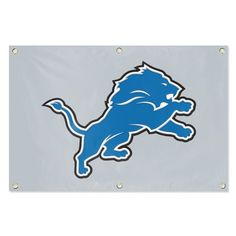 Detroit Lions NFL Applique & Embroidered Team Banner (36x24)