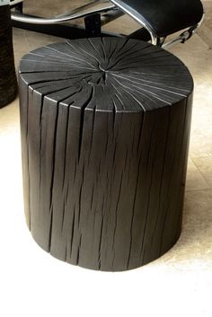 Reclaimed Tan Oak with a shou-sugi-ban finish by Brad Wilson. Order yours at http://www.holmeswilson.com