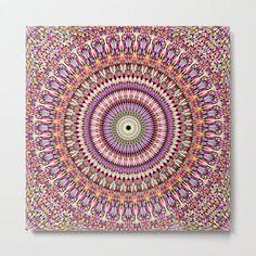 Blossom Mandala Geometry Metal Print by David Zydd #MandalaMetalPrint #BestMetalPrints #WallDecor #Decor #Graphic #MulticolouredMandala (tags: metal, wall art, home decoration, mandala, artwork, art print, geometry, mandala decor, designer, wall, print, healing, ornament, art, mandala wall design, abstract, pattern, product design, dorm, mandala wall decor) Art Prints For Sale, Framed Art Prints, Canvas Prints, Geometry Art, Sacred Geometry, Bohemian Wall Decor, Mandala Artwork, Mandala Design, Vibrant Colors