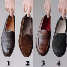 Some of my 2018 loafer additions which is your fav? Your Shoes, Men's Shoes, Dress Shoes, Berwick Shoes, Groom Tux, Goodyear Welt, Cobbler, Stylish Men, Loafers Men