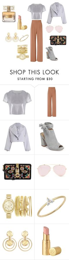 """Gold and silver"" by dennitsa on Polyvore featuring мода, Related, Fleur du Mal, Zimmermann, Kristin Cavallari, Dolce&Gabbana, EF Collection, Kenneth Jay Lane, Too Faced Cosmetics и Givenchy"