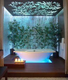 meuble salle de bain alinea, salle de bain moderne avec baignoire blanche
