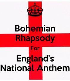 Bohemian Rhapsody Facebook   Bohemian Rhapsody For England's National Anthem