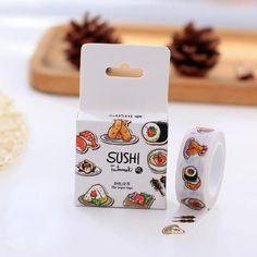 Japanese Cartoon Sushi Washi Tape - NotebookTherapy