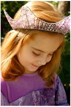 Purple Appleblossom dress and full crown