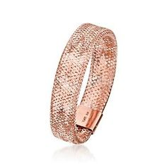 Italian 14kt Rose Gold Mesh Ring: Jewelry
