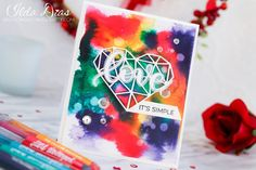 (I) (L)ove (D)oing (A)ll Things Crafty!: Love It's Simple Card - Mermaid Marker Background