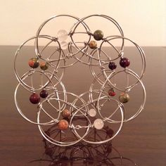 Sacred Geometry 3d Wire Mandala - Rose Quartz, Garnet, Unakite & Jasper Buddhist Meditation Tool - Stainless Steel Lotus Flower Fidget Toy by Theurbanrefugee on Etsy