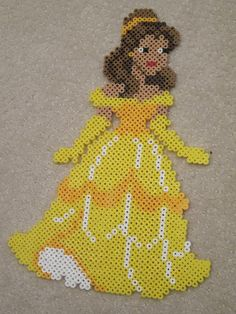 Belle by perlerbeadcrafts, via Flickr ... Hama Bead Art