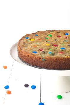 Oreo Stuffed M&M Cookie Cake