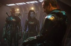 Jude Law, Djimon Hounsou, and Gemma Chan in Captain Marvel Annette Bening, Jude Law, Brie Larson, Marvel Characters, Marvel Movies, Marvel Villains, Jackson, Guardians Of The Galaxy, Djimon Hounsou