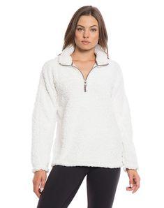 True grit white pullover