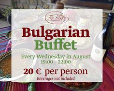 Explore Bulgaria by Discovering its Cuisine. Bulgarian Buffet every Wednesday in August at BlackSeaRama Clubhouse Bistro