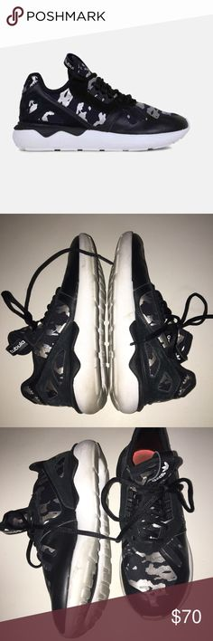 camo adidas tubulars need cleaning on soles but in good condition otherwise. retail $120 and limited edition adidas Shoes Athletic Shoes