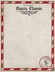 Striking image for free printable letters from santa north pole