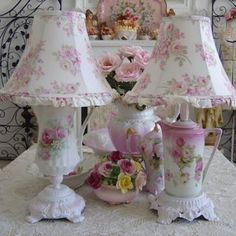 Shabby Chic...MAGNIFICENT  (I have the little ring box with roses on it.  Given to me years ago from a friend.)