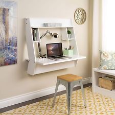 Vintage Winslow White Modern Floating Desk