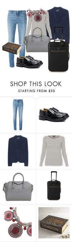 """""""travel"""" by francymayoli ❤ liked on Polyvore featuring Givenchy, Tricker's, Juvia, Weekend Max Mara, Mark Cross and Pier 1 Imports"""