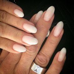 Fransk Fade..French White & Unicum Rosa #pronails @nageldesigngavle  Stainless steel ring från #lottadesign @lottadesignbagladyjennifer