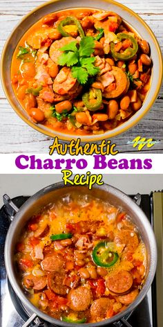 This Charro Beans Recipe, in other words, Frijoles Charros Recipe or Frijoles a la Charra, is simple and delicious. mexican recipes Charro Beans Recipe or Frijoles Charros Casserole Recipes, Soup Recipes, Cooking Recipes, Healthy Recipes, Vegetarian Recipes, Chili Recipes, Mexican Chicken Recipes, Mexican Dishes, Authentic Mexican Recipes