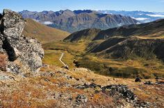Road tripping in Alaska.