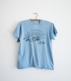 Captiva Island Tourist Tee / Vintage Blue T-Shirt / Unisex Adult Cotton Top