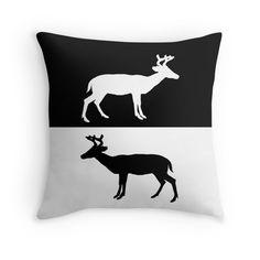 Black White Deer