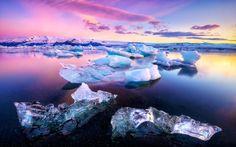 The otherworldly glacial lake of Jökulsárlón, Iceland
