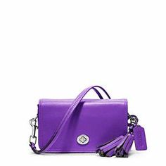 aa4063bac5d ... for Coach - Legacy Leather Penny Shoulder Purse Svultraviolet 198 Coach  Madison Leather E w Slim Swingpack Crossbody Bag 49992 eBay Love this purple  ...