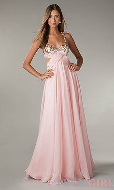 Long Prom Dress with Cut Out Sides by Flirt  at PromGirl.com