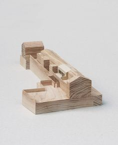 wooden architecture model.