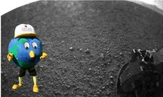 BREAKING NEWS: #NASA has released yet another image from Mars captured by Rover #Curiosity! It looks like they found some alien life form....Oh, nevermind, it's just Globie!
