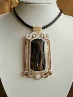 "Sutache Alexandry - unique jewellery: Wisior ""Kawa o poranku"""