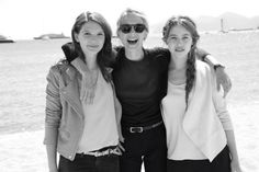 douceurs:  Mélanie Laurent with the actresses of her new movie Respire, Josephine Japy and Lou De Laage for Vogue France   Cannes 2014