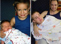 Drei Brüder ließen alte Fotos wieder aufleben und machten daraus diesen Kalender für ihre Mutter… - DIY Bastelideen