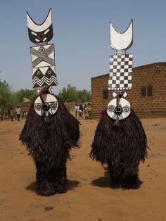 Nwantantay Plank Masks. Bwa Peoples. Burkina Faso, Africa.