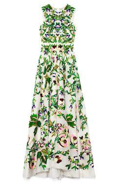 Avorio Multi Organza Gown by Valentino - Moda Operandi