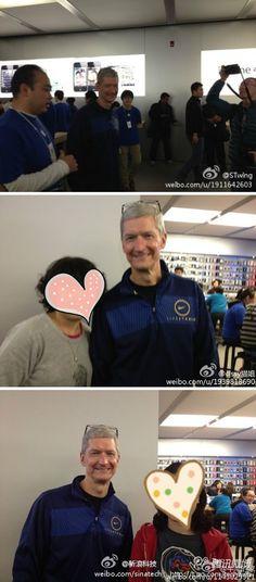 Tim Cook is in Beijing.