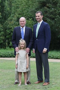 seven-year-old Princess Leonor's first official snaps with King Juan Carlos and Crown Prince Felipe