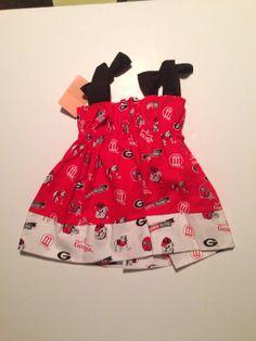 Georgia bulldog dress by Jazzybambini on Etsy, $8.00