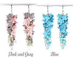 Floral Earrings with Flowers Feminine Earrings Drop от KittenUmka