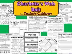 CHARLOTTE'S WEB UNIT FROM TEACHER'S CLUBHOUSE - TeachersPayTeachers.com